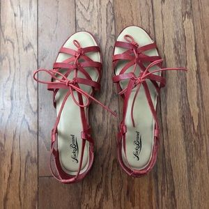 Lucky Brand Red Women's Gladiator Sandals SZ 10
